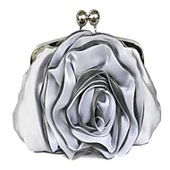 Handbag Silk/Lace/Faux Leather Evening Handbags/Clutches/Mini-Bags/Wallets & Accessories With Flower/Lace