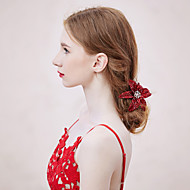 Fleurs/Barrette Casque Mariage/Occasion spéciale/Outdoor Strass/Alliage/Tissu Femme Mariage/Occasion spéciale/Outdoor 1 Pièce