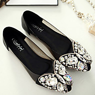 Women's Shoes Faux Leather Flat Heel Pointed Toe Flats Dress/Casual Black/White