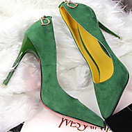 Women's Shoes Velvet Stiletto Heel Heels Pumps/Heels Party & Evening/Dress/Casual Black/Blue/Green/Red/Khaki