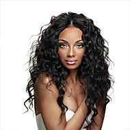 mongolian pitsi frong hiuksista peruukit luonnollinen aalto Nyörilliset peruukit neitsyt hiukset vauvan hiukset mustat naiset