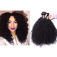 """3pcs / lot 8 """"-34"""" extension mogolian cheveux bouclés kindy crépus bouclés vierge trame de cheveux de 300g de cheveux de tissage 1b # de"""