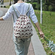 Women's  Manual Linen Bird Style Backpack