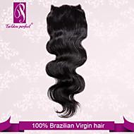 """10 """"-20"""" brasiliana del merletto dei capelli corpo di chiusura dimensione dell'onda 4 """"x3"""" pollici chiusure superiori merletto dei capelli umani"""