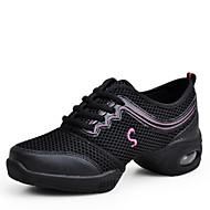 Scarpe da ballo-Non personalizzabile-Da donna-Sneakers da danza moderna-Quadrato-Tessuto-Nero / Blu / Rosso