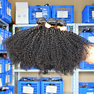3 Pcs/Lot10-26 Eurasian Virgin Hair Afro Kinky Curly Natural Black Unprocessed Human Hair Weave Bundles Tangle Free