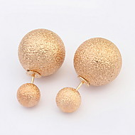 Women's Fine Grind Arenaceous  Alloy Stud Earrings