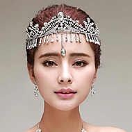 Sparkling Rhinestones Wedding/Party Headpieces/Forehead Jewelry with Imitation Pearls