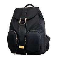 Women Nylon Bucket Backpack / School Bag / Travel Bag - Purple / Red / Black