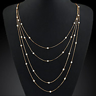 Women's European Style Fashion Elegant Chain Imitation Pearl Ncklace