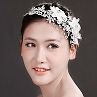 Fashion Women Tulle/Polyester Handwork Weave Headbands With Crystal/Rhinestone Wedding/Party Headpiece