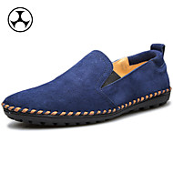 Men's Shoes Casual/Athletic Suede Oxfords Brown/Yellow/Navy