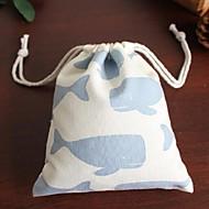 unisex fénye kék bálna tervezési vászon táska ajándékcsomagot