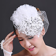 Women's Lace/Rhinestone/Chiffon/Net Headpiece - Wedding/Special Occasion Flowers/Birdcage Veils 1 Piece