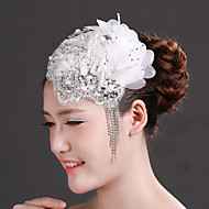 Women Lace/Rhinestone/Imitation Pearl/Chiffon Fascinators/Flowers With Crystal/Imitation Pearl/RhinestoneWedding