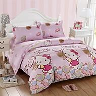 vaquinha algodão rosa adorável jogo de cama de 4pcs queen size