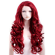 Capless Red Extra Long High Quality Natural Curly Synthetic Wig