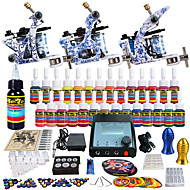 solong tattoo compleet tattoo kit 3 promachine s 28 inkten voeding naald grips tips
