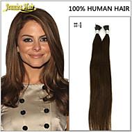 100s i tip előre ragasztott keratin ragasztó fúziós haj 100% indiai Remy emberi haj természetes kiterjesztések