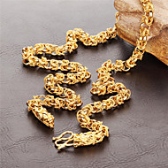 Stainless Steel Plating 18 K Gold Man Leading Necklace