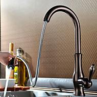 phasat® däck monterat enda handtag ett hål med olja gnuggade brons köksblandare