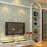 New Rainbow™  Retro Wallpaper Art Deco Retro Green Wall Covering Non-woven Fabric Wall Art