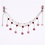Korean Style Alloy Princess Hair Chain(White,Red,Purple,Blue)(1Pc)
