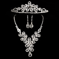 2015The new bride necklace earrings diamond crown three-piece classic retro luxury jewelry wedding jewelryTM-SET0011