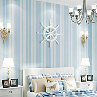 New Rainbow™ Wallpaper Simple Style Vertical Stripes Stripe Wall Covering , Stripe Non-woven Paper