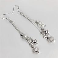 Women`s Cute  Party  Work  Casual Silver Plated  Brass Drop Earrings