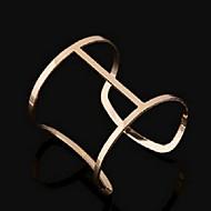 Luxury Style Open Alloy Bangle Bracelet(Gold)(1Pc)