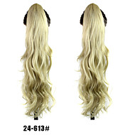 The New Fashion Lady Curly Hair Claw Clip Horsetail 24-613# Color