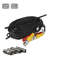60ft (20m) CCTV surveillance camera video verlengsnoer pre-made all-in-one BNC RCA-kabel