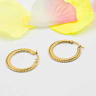 Women's Fashion Exquisite Elegant Gold Plated Hoop Jewelry Earrings