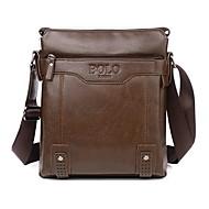 Men 's PU Baguette Shoulder Bag/Tote - Brown/Black