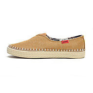 Warrior® Men's Shoes Outdoor/Office & Career/Casual Canvas Loafers Khaki