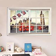 3d klistermærker vindue landskab pvc wall stickers Vægoverføringsbilleder