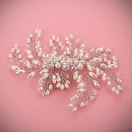 結婚式 / パーティー 成人用 真珠 かぶと コーム 1個