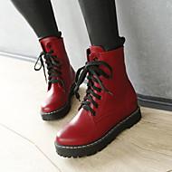 Sort / Rød / Hvid / Grå / Flerfarvet - Kilehæl - Kvinders Sko - Wedges / Rund tå / Modestøvler - Kunstlæder - Formelt / Hverdag - Støvler