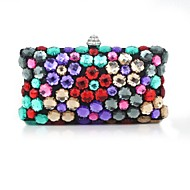 Handbag Faux Leather/Metal Evening Handbags/Clutches/Mini-Bags With Metal