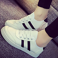 Lenkkarit - Tasapohja - Naisten kengät - Tekonahka - Musta / Punainen / Valkoinen - Ulkoilu / Rento - Comfort