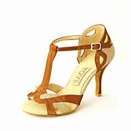 Na zakázku - Dámské - Taneční boty - Latina / Salsa - Koženka - Podpatek na míru - Černá / Modrá / Červená / Stříbrná / Zlatá