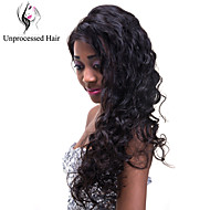 1pcs/lot Virgin Unprocessed Human Hair Full Lace Wig Natural Color Natural Wave