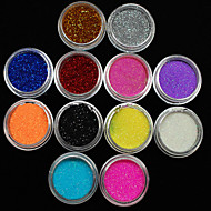 36ks smíšené barvy malé jemné nail art glitter prášek nail art fólie, pásy prášek arylic prášek na nehty dekorace
