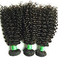 """3pcs / lot 8 """"-30"""" mezcla de colores tamaño # 1b del pelo indio rizado vírgenes pelo humano extensiones paquetes"""