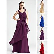 Bridesmaid Dress Floor Length Chiffon A Line Sweetheart Dress