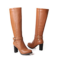 Women's Shoes Chunky Heel Fashion Boots/Round Toe Boots Dress/Casual Black/Brown