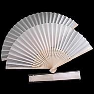 흰색 폴리 에스테르 섬유 손 팬 - 4 세트