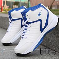 כדורסל גברים נעליים דמוי עור שחור / כחול / אדום