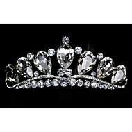 여성 라인석 / 크리스탈 / 합금 투구-웨딩 / 특별한날 왕관 1개 둥근